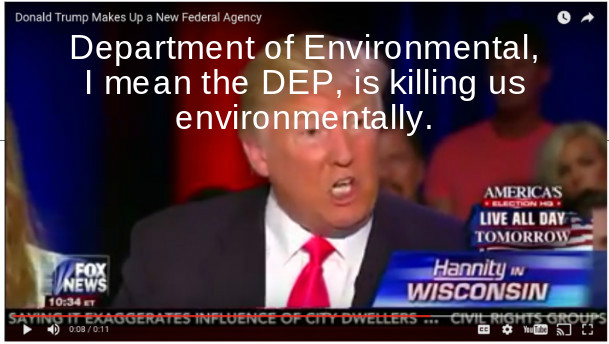 Trump Wante to Eliminate DEP